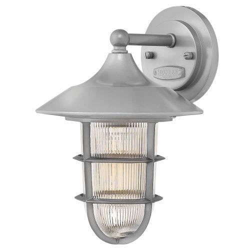 Hinkley HK/MARINA2/S Marina 1Lt Haematite Small Outdoor Wall Lantern