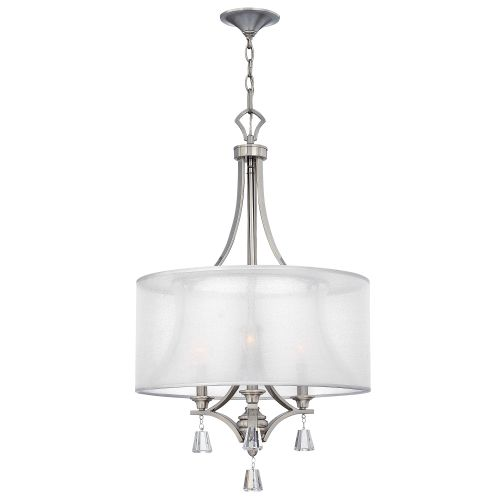 Hinkley Mime 3 Light Brushed Nickel Pendant HK/MIME/3P