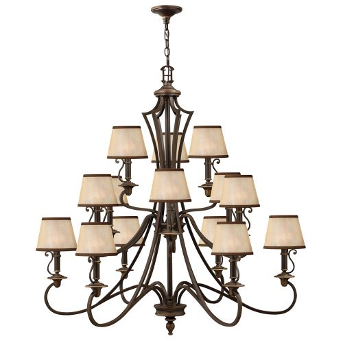 Hinkley HK/PLYMOUTH15 Plymouth 15Lt Old Bronze Ceiling Chandelier