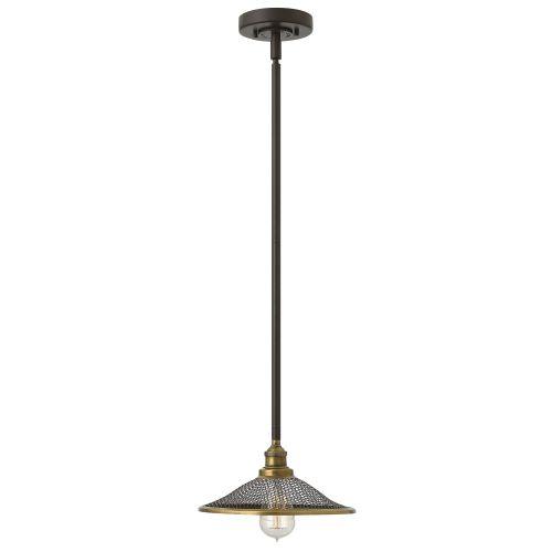 Hinkley HK/RIGBY/P KZ Rigby 1Lt Buckeye Bronze Ceiling Pendant