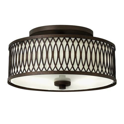 Hinkley HK/WALDEN/F Walden 3Lt Victorian Bronze Flush Mount Ceiling Light