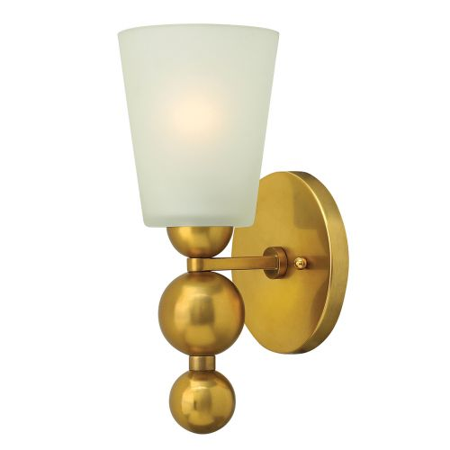 Hinkley Vintage Brass Wall Light With Spherical Detail HK/ZELDA1 VS