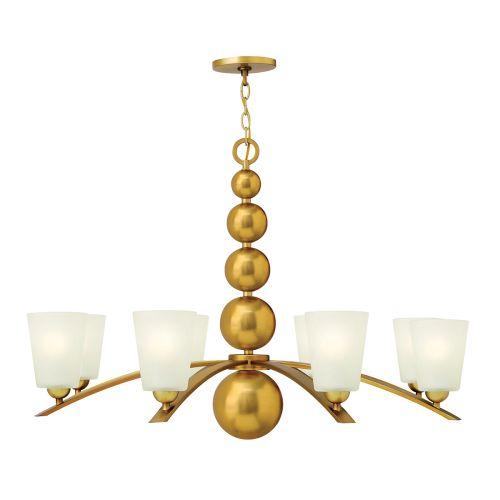Hinkley Vintage Brass Multi-Arm Ceiling Fitting Spherical Detail HK/ZELDA8 VS