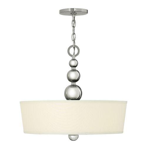 Hinkley Zelda HK/ZELDA/P/B/PN Ceiling Pendant 3 Light Polished Nickel