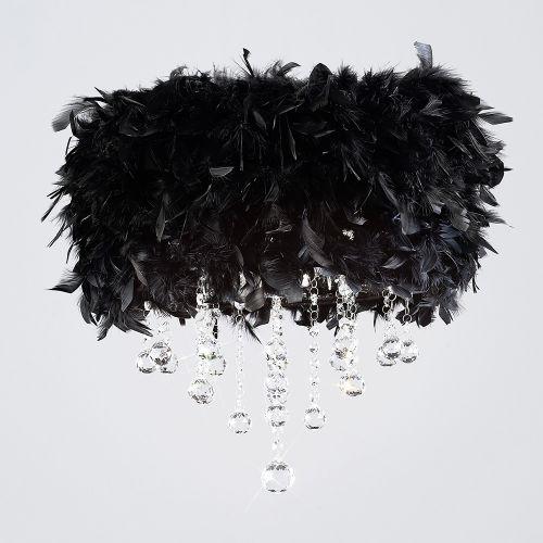 Diyas Ibis Black Feathered Flush Fitting IL30741-BL