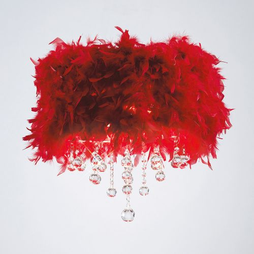 Diyas Ibis Red Feathered Flush Fitting IL30741-RD