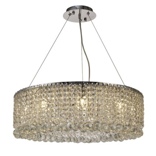 Diyas IL31730 Empire Crystal 9 Light Pendant Polished Chrome Frame