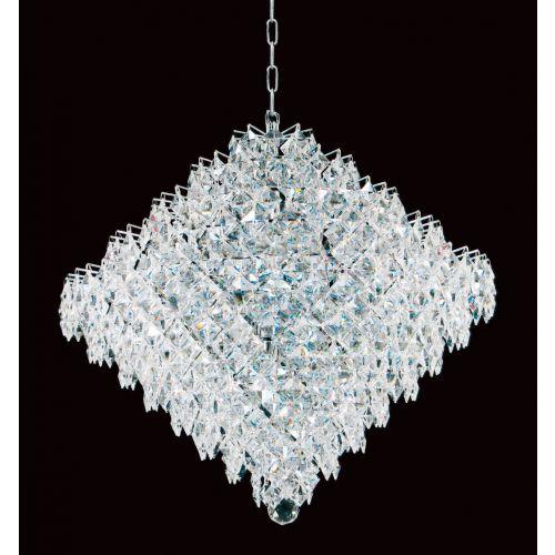 Impex CF01081/18/CH Diamond Crystal 18 Light Chandelier Chrome Frame