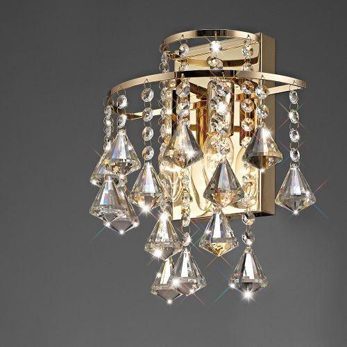 Diyas IL32774 Inina Crystal Double Wall Lamp French Gold Frame