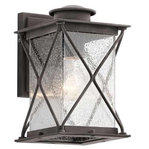 Kichler KL/ARGYLE2/S Argyle 1Lt Weathered Zinc Outdoor Wall Light
