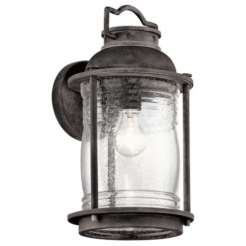 Kichler Ashlandbay Large Outdoor Wall Lantern Weathered Zinc ELS/KL/ASHLANDBAY2/L