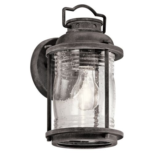 Kichler Ashlandbay Small Outdoor Wall Lantern Weathered Zinc ELS/KL/ASHLANDBAY2/S