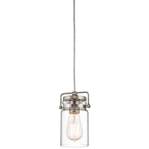 Kichler KL/BRINLEY/MP NI Brinley 1Lt Brushed Nickel Mini Pendant