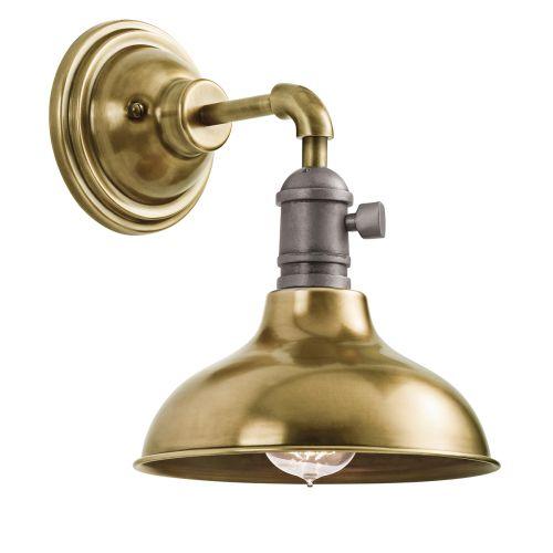 Kichler KL/COBSON1 BR Cobson 1Lt Natural Brass Wall Light