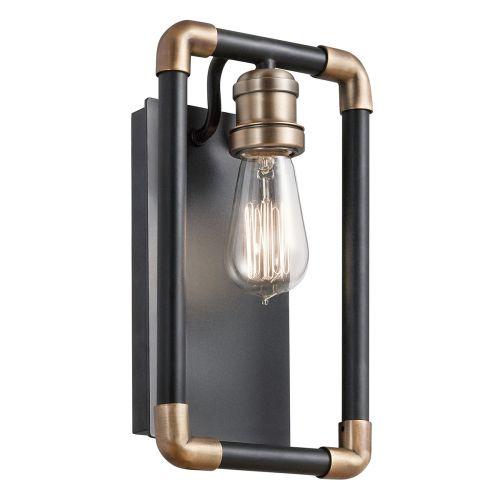 Kichler KL/IMAHN1 Imahn 1Lt Black Natural Brass Wall Light