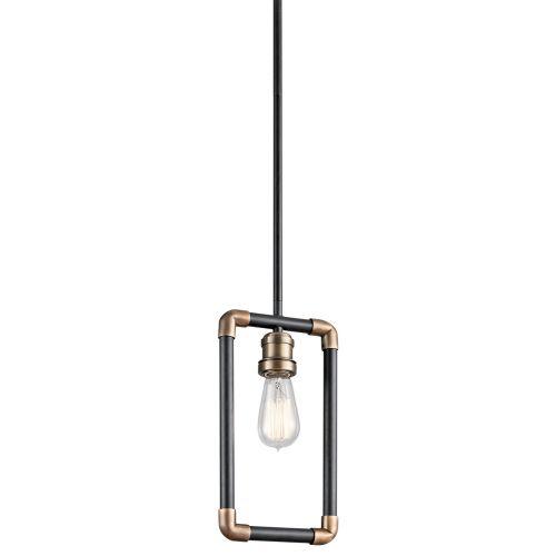 Kichler KL/IMAHN/MP Imahn 1Lt Black and Natural Brass Mini Pendant Light