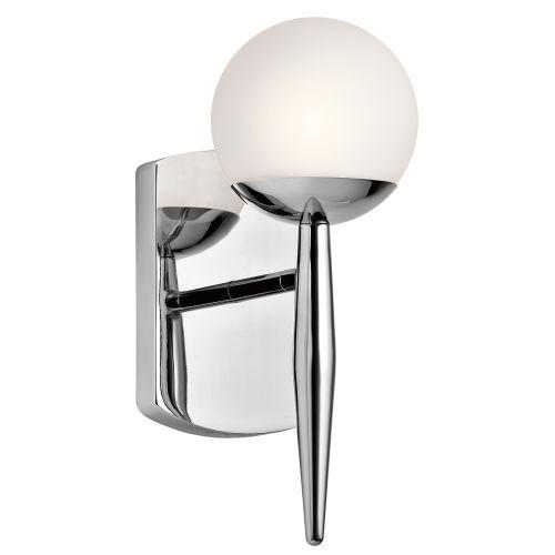 Kichler Jasper 1lt Bathroom Wall Light Polished Chrome ELS/KL/JASPER1 BATH