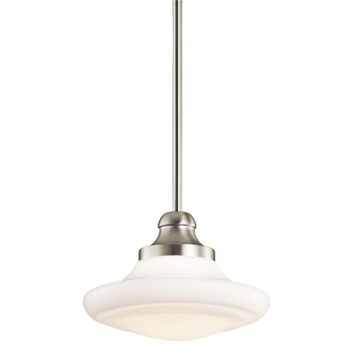 Kichler KL/KELLER/M NI Keller 1Lt Brushed Nickel Duo-Mount Ceiling Pendant