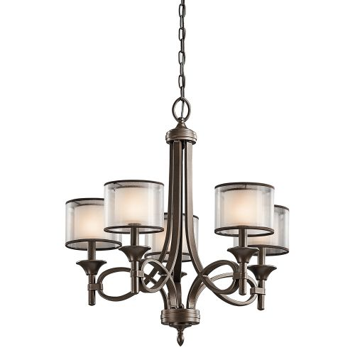 Kichler KL/LACEY5 MB Lacey 5Lt Mission Bronze Pendant Light