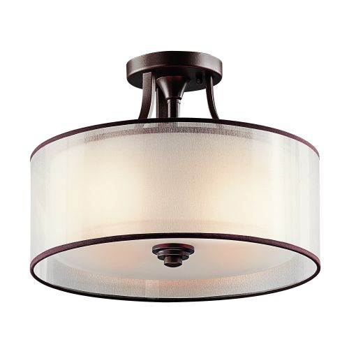 Kichler KL/LACEY/SF MB 3Lt Mission Bronze Semi-Flush Ceiling Light