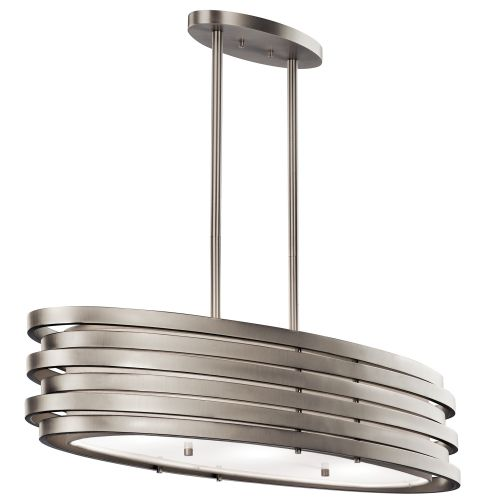 Kichler KL/ROSWELL/ISLE Roswell 3Lt Brushed Nickel Pendant Light