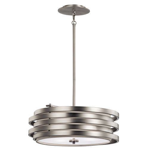 Kichler KL/ROSWELL/P/B Roswell 3Lt Brushed Nickel Pendant Light