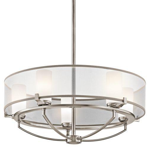 Kichler Saldana 5 Light Ceiling Light Pewter Finish KL/SALDANA5