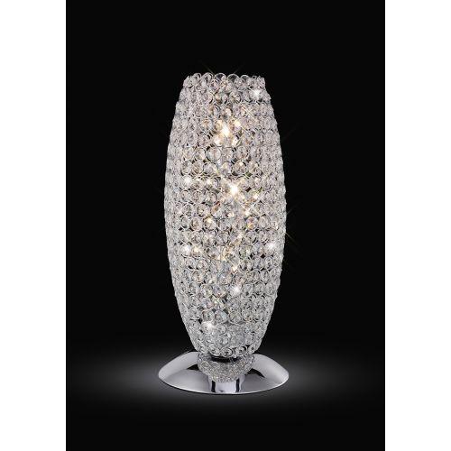 Diyas IL30411 Kos Table Lamp 3 Light Polished Chrome Crystal