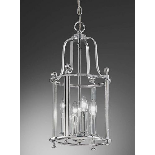 Franklite Pasillo 4 Light Chrome Traditional Indoor Lantern LA7000/4