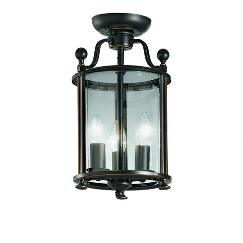 Franklite Pasillo 3 Light Bronze Traditional Indoor Lantern LA7001/3