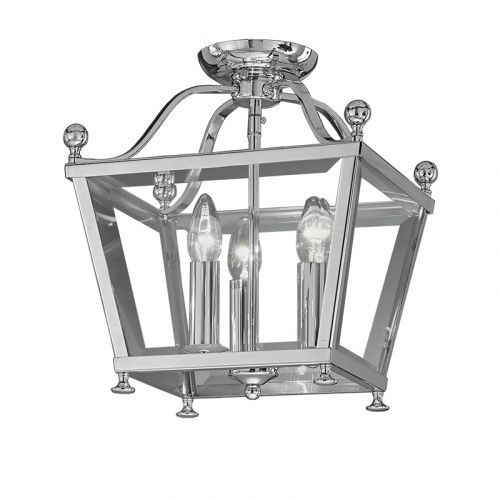 Franklite Atrio 3 Light Chrome Traditional  Indoor Lantern LA7002/3
