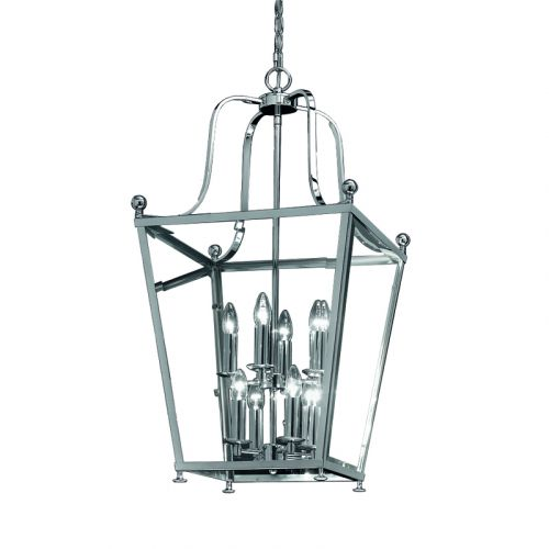 Franklite Atrio 12 Light Chrome Traditional Indoor Lantern LA7003/12