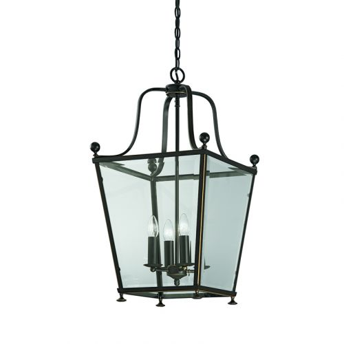 Franklite Atrio 4 Light Indoor Lantern In Chrome Or Bronze LA7005/4