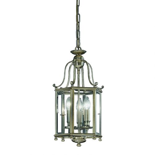 Franklite  Montpelier Pendant Indoor Lantern Bronze 3 Light