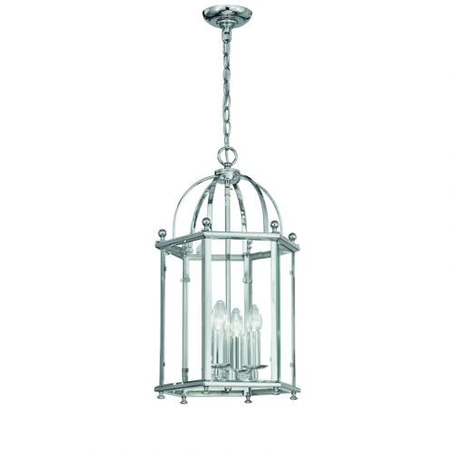 Franklite Madison Chrome Traditional Hanging Indoor Lantern LA7008/4