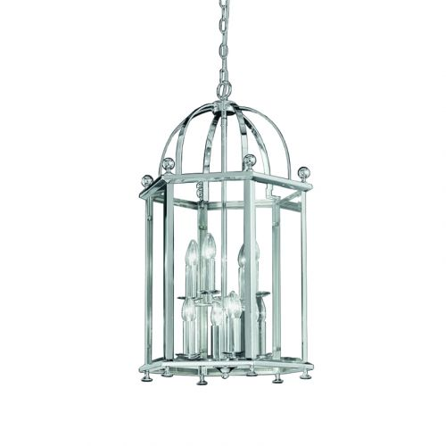 Franklite Madison Chrome Traditional Hanging Indoor Lantern LA7008/8
