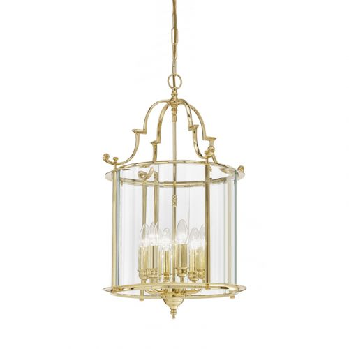 Franklite Montagu Brass 6 Light Hanging Indoor Lantern LA7009/6