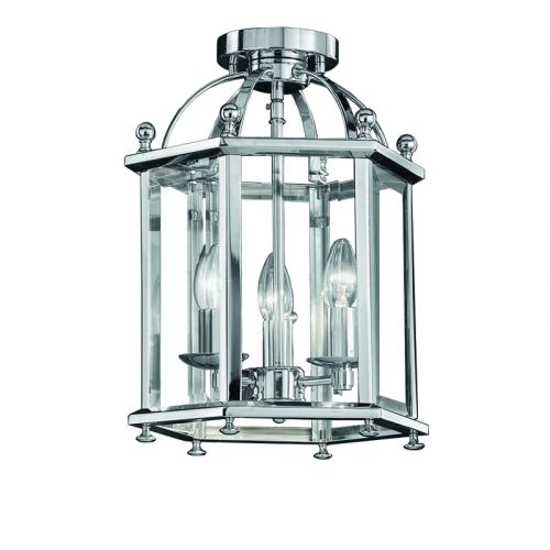 Franklite Madison Chrome Finish Traditional Flush Lantern LA7013/3
