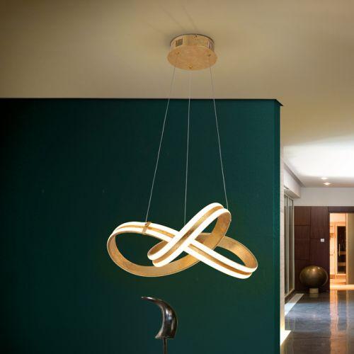 Schuller Lazas 486705 LED Ceiling Pendant Gold Leaf