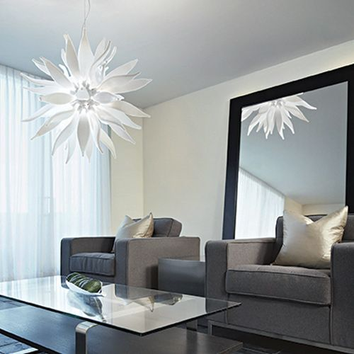 Ideal Lux White Leaves Hanging Ceiling Light SP12 112268