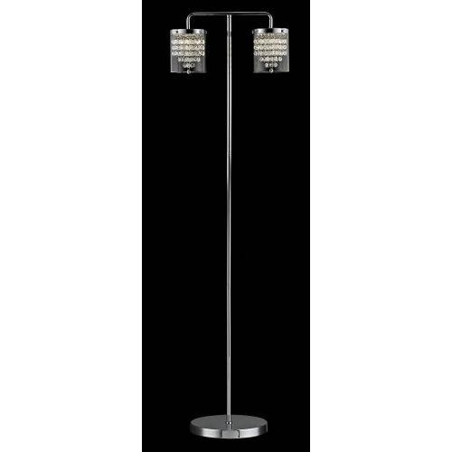 Impex LED608242/FL/CH Florina LED Chrome Floor Lamp