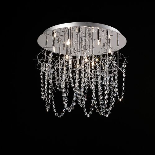 Diyas IL30542 Lexi Crystal Ceiling Fitting 10 Light Polished Chrome