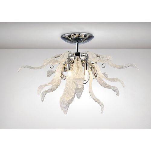 Diyas IL31630 Lily Ceiling Fitting 6 Light G9 Polished Chrome S Glass