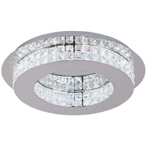 Lekki Lusa Ceiling Fitting Light 18W LED 4000K 418lm Chrome Crystal LEK3156
