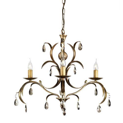 Elstead LL3 ANT BRZ Lily 3Lt Metallic Bronze Ceiling Pendant