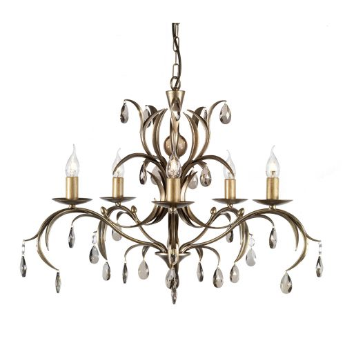 Elstead Lily 5 Light Ceiling Fitting LL5 Metallic Bronze