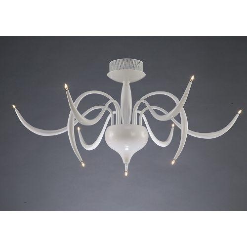 Diyas IL30150 Llamas Semi Flush Ceiling Fitting 9 Light White