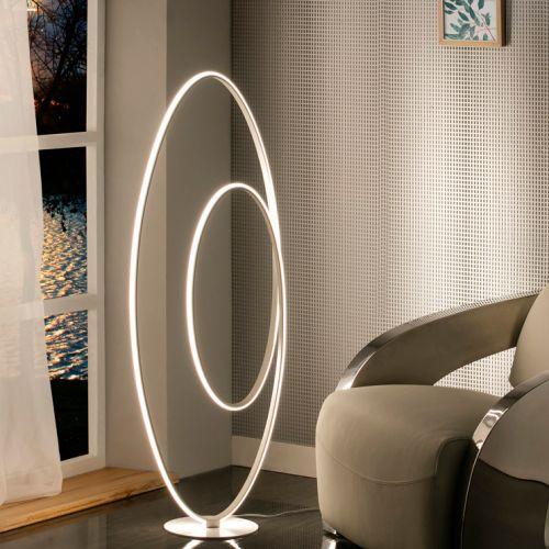 Schuller Loop 614157UK LED Floor Lamp Satin White Frame