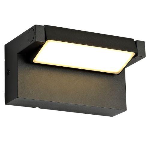 Lekki Lark Outdoor Wall Lamp Adjustable 10W LED 3000K 720lm IP54 Graphite Black LEK3157