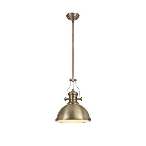 Lekki Larson Pendant Light Fitting 1 x E27 Antique Brass LEK3163